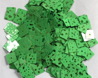 100 Green Color/ Spray Texture/3D Square Shape /KBRGS604