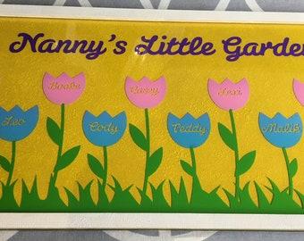Nanny's little garden frame wooden stunning gift Dad / grandad
