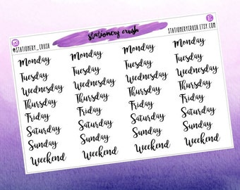 Days of the week - stickers