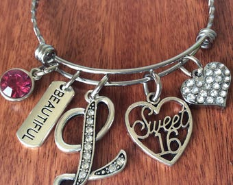 Personalized SWEET 16 Bracelet, Daughter Sweet 16, Sweet Sixteen Gift, Sweet 16 Gift, 16th Birthday, 16 Years, Gifts For Sweet 16, 16th