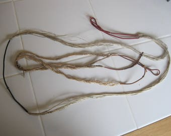 "Two Antique Bow Strings  60"" And 56"""