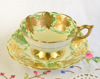 """Royal Stafford """"La Vigne D'or"""" cup and saucer"""