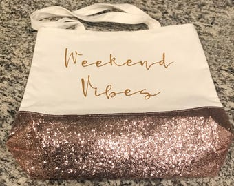 Weekend Vibes Weekend Canvas Tote Bag