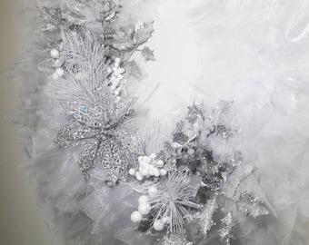 White Tulle Wreath