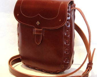 Brown Leather Cross Body Bag, Leather Cross Body Bag, Everyday Leather Purse, Small Travel Bag, Leather Shoulder Bag