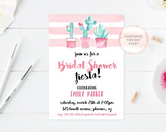 Bridal Shower Invitation, Bridal Shower Invite, Succulents, Cactus, Succulent Bridal Shower, Garden, Succulent Invites, Bride, Bridal [594]