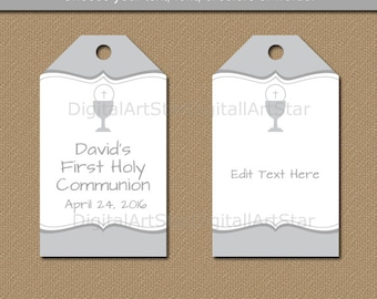 Baptism tags pink baptism favor tags first communion tags first communion party favor tags printable first communion hang tags editable gift tags in negle Choice Image