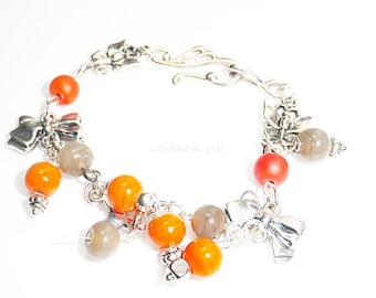 Bracelet charms • jewelry metal choice and pearls Baroque jewel collection 2014 gift • •