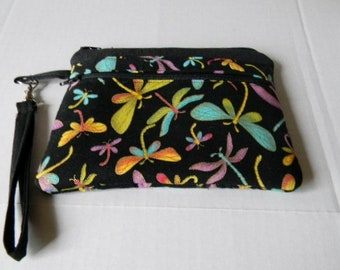 Dragonfly Wristlet with Detachable Handle