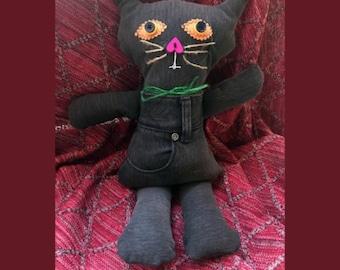Handmade Money Good Luck Prosperity Fortune Juju Cat Kitty - Poppet-  Voo Doo Doll - FREE SHIPPING