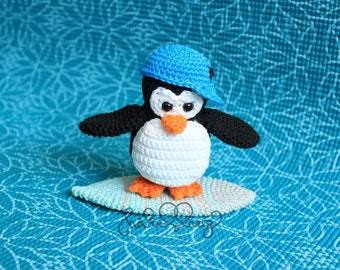 Häkelanleitung für den Pinguin Maurice - Pattern for amigurumi Maurice the penguin