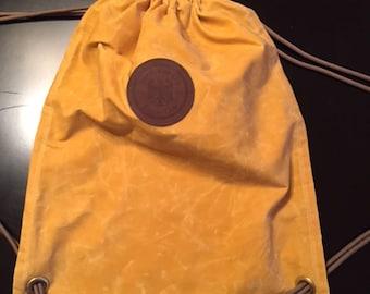 Waxed Canvas Kickaround Backpack Yellow
