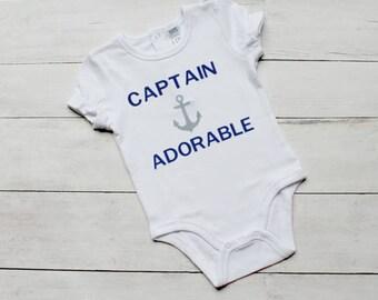 Captain Adorable Gerber Onesie. Baby Boy Onesie.