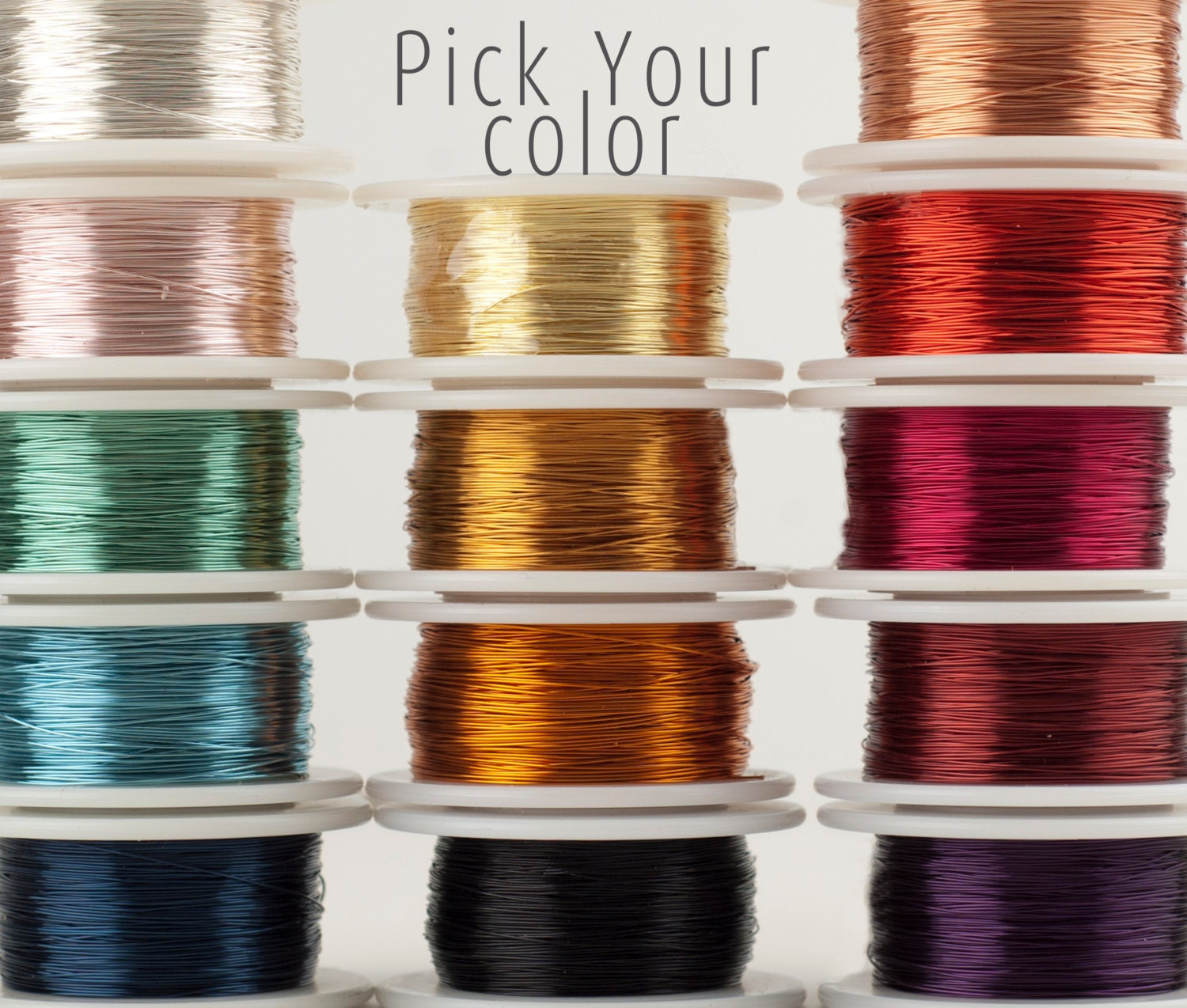 Craft Wire Pick Your Color Wire Crochet Supply 28 Gauge