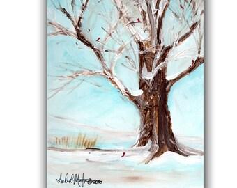 Last Days of Winter Original Acrylic Painting llmartin