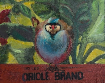 Limited Edition Giclee Print Oriole Brand Bird