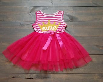 First Birthday Outfit Toddle Baby Girl Tutu Dress #B-10