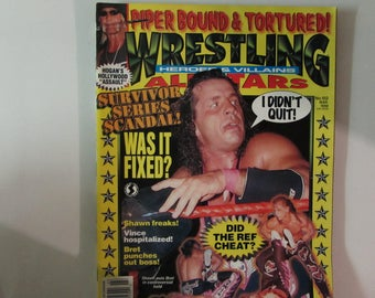 Wrestling Heroes & Villains Magazine, March 1998, Bret Hart