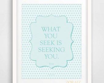 Inspiring Rumi Quote - Poetry - Spiritual - Rumi Collection 8x10inches