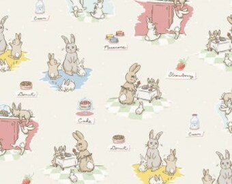 Bunnies And Cream - From Penny Rose Fabrics - By Lauren Nash - For Riley Blake - Cream - One Yard - 10.95 Dollars