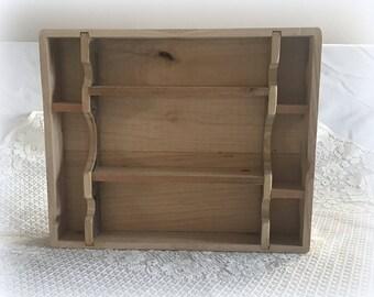 Wooden Shadow box - Cuiro Shelf - Handmade