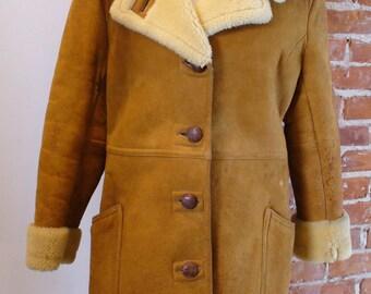 Vintage Shearling Sheepskin Coat