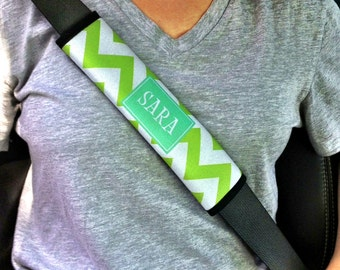 Personalized Monogram Seatbelt Strap - Customize with Pattern, Color and Frame - Seat Belt Strap Cover Cushion Pad