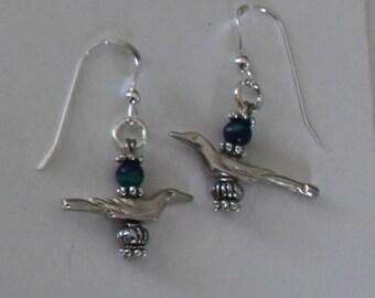 Sterling Silver 3D BIRD Earrings - Wildlife, Avian