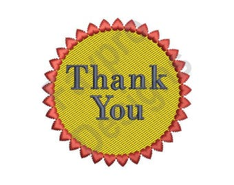 Thank You - Machine Embroidery Design