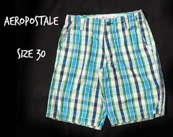 men's casual shorts, men's shorts, men's plaid shorts, summer shorts, men's summer shorts -  90's shorts, size -36 shorts, # 40