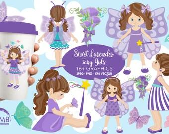 Butterfly clipart, Fairy clipart, Fairy girls clipart, princess clipart,  butterfly girls clipart, purple fairy clipart, AMB-1088
