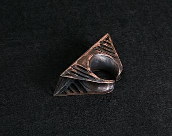 "A ""Bridge"" Ring- copper"