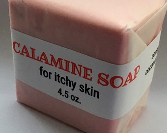 Calamine Calming Soap-Great for Dry or Itchy,Blemish Prone Skin & All Skin Types- Limited FREE SHIPPING