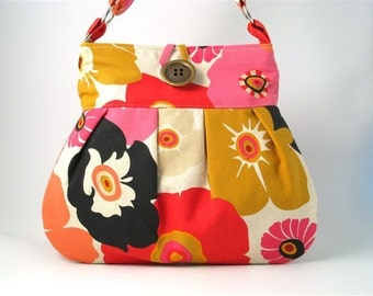GET READY FOR SPRING- HANDMADE LARGE AND FUNKY PLEATED BAG
