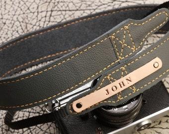Leather Camera Strap for DSL/SLR camera Personalized Gift DSLR Camera Strap Camera accessories Canon camera strap Nikon camera strap