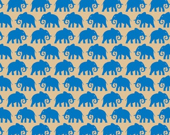 5 sheets of tissue paper with elephants - leaf wrapped with an animal