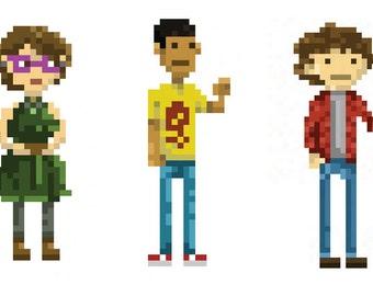 Custom Digital Pixel Art, Games Portrait