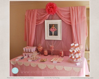 Ballerina Party Printable Decorations