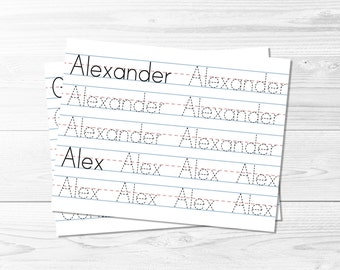 name tracing template