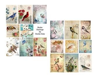 Birdie Darlings Digital Collage Set