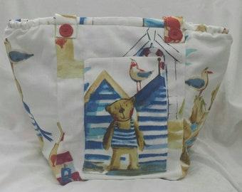 Seaside Teddy Summer Vegan Shoulder Bag.