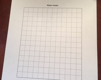 24-week Water Intake Planner with Stickers
