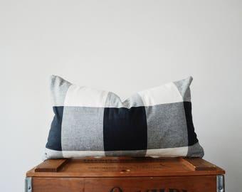 THE EVERETT Buffalo Check Lumbar Pillow Cover