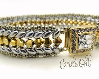 Duo Chevron Bracelet Tutorial by Carole Ohl