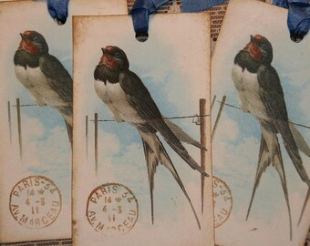 Bird On A Line Gift Tags
