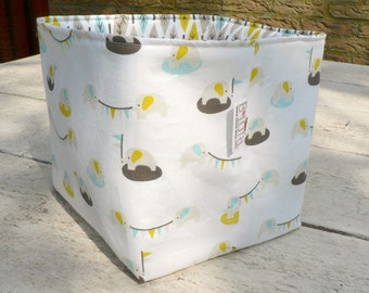 Baby toy storage box organic storage basket blue nursery storage elephant diaper caddy toy storage baby gifts baby shower gifts baby boy