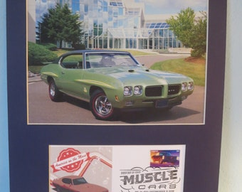 Saluting the Pontiac GTO & First day Cover of the stamp issued to honor the 1966 Pontiac GTO