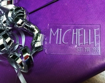 Personalised Name And Date Gift Tag