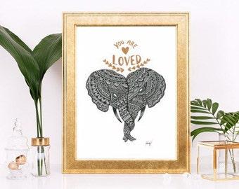Elephant Print ~ Quote