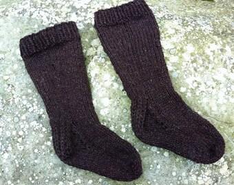 Toddler Socks Pattern Knit Knitted PDF Knee High DK